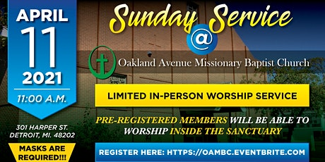 OAMBC Sunday Service 4-11-2021 tickets