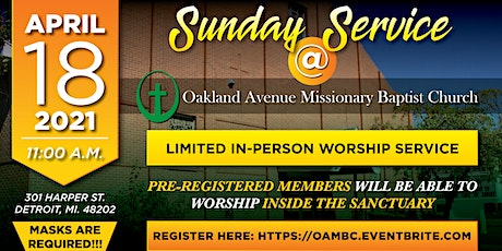 OAMBC Sunday Service 4-18-2021 tickets