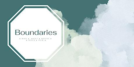 Boundaries: A Workshop tickets