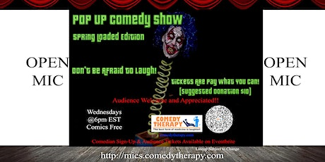 Pop Up Comedy Show Open Mic - April 21st tickets