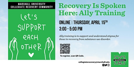 Recovery Is Spoken Here: Recovery Ally Training tickets