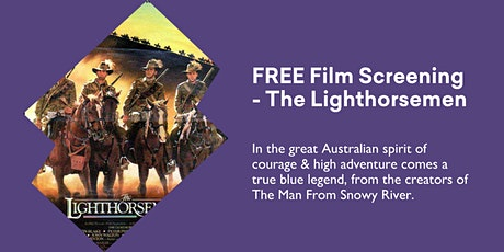FREE Film Screening, The Lighthorsemen (1987) @  Kingston Library tickets