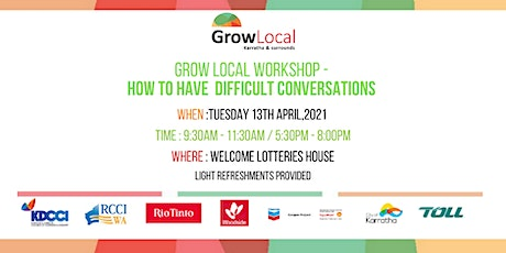 Grow Local Workshop - How to Have Difficult Conversations (Evening Session) tickets
