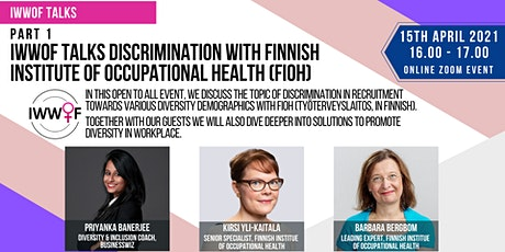 IWWOF Talks Discrimination with Finnish Institute of Occupational Health tickets