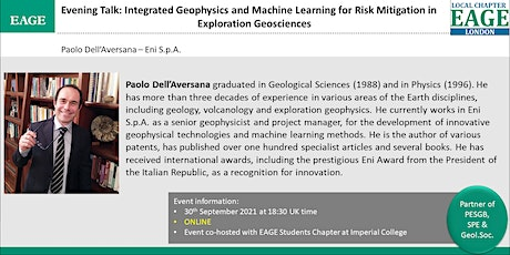 EAGE London: Integrated Geophysics and Machine Learning tickets