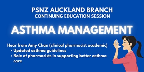 13th April Continuing Education Session: Asthma Management (Dr Amy Chan) tickets