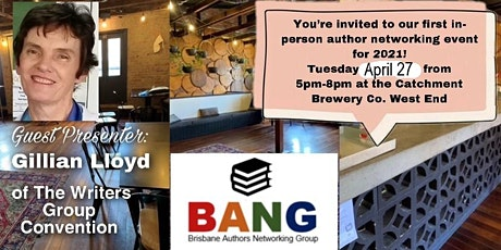 Our 1st Brisbane Author Networking Group event for 2021 tickets