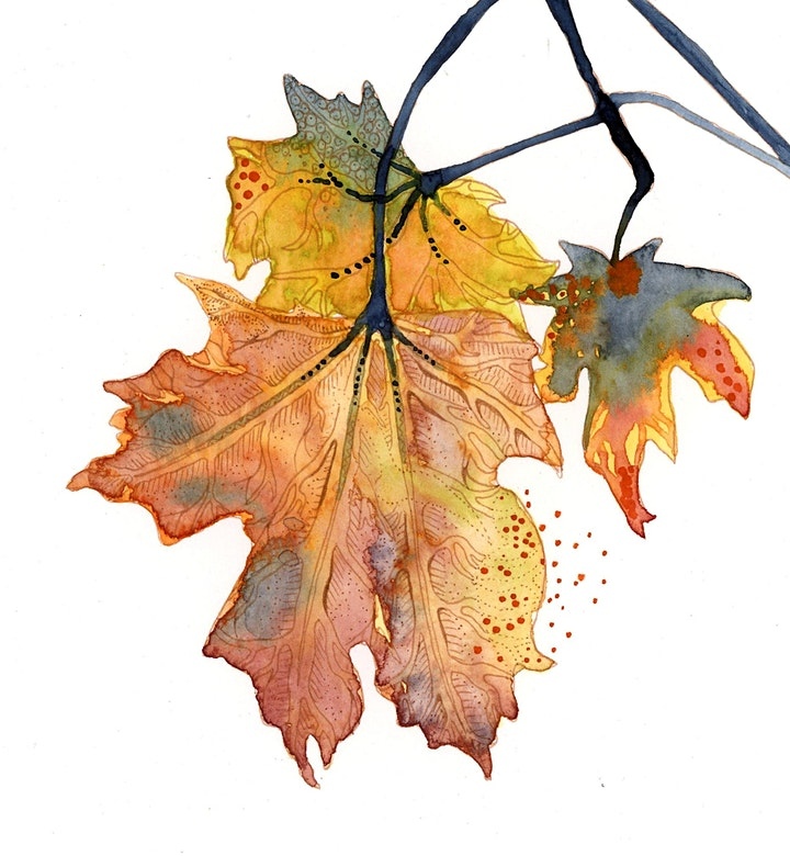 Autumn Leaves - Wine and Watercolours Between the Vines image