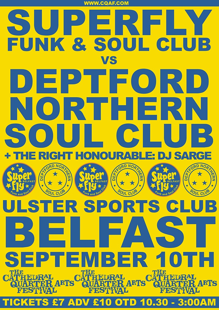 Superfly Funk & Soul Club x Deptford Northern Soul Club image