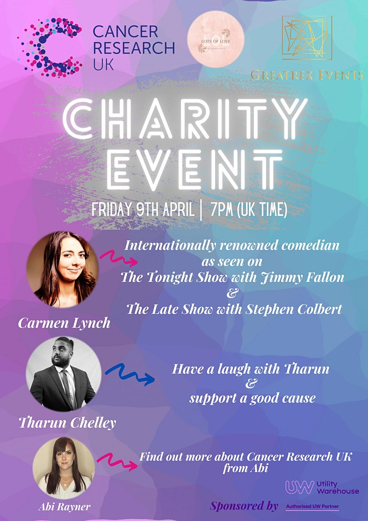 Cancer Research UK Fundraising Comedy Event image
