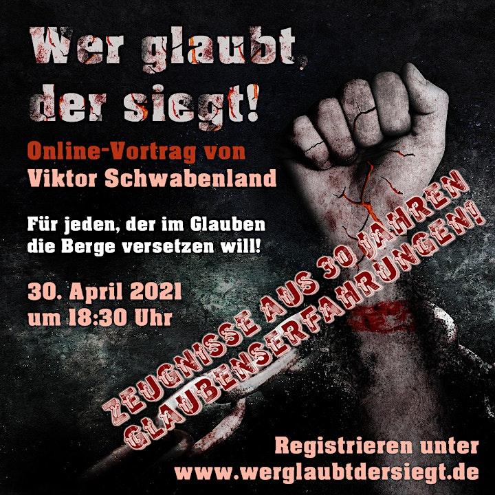 """Online-Vortrag """"Wer glaubt, der siegt!"""": Bild"""