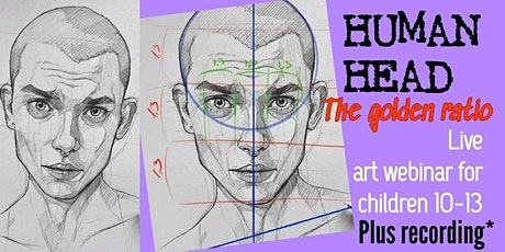 Learn to Draw a Human Head - Art Webinar for Children 10-13 tickets