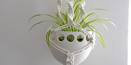 Upcycled Textile Macramé Pot Hanger Workshop tickets