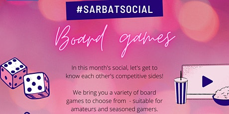 Sarbat social with board games - April tickets