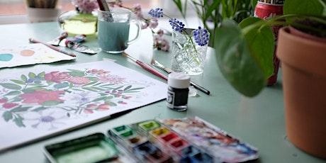 Watercolour Wildflower (Online class) tickets