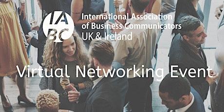 IABC UK & Ireland Online Networking Drinks - April tickets