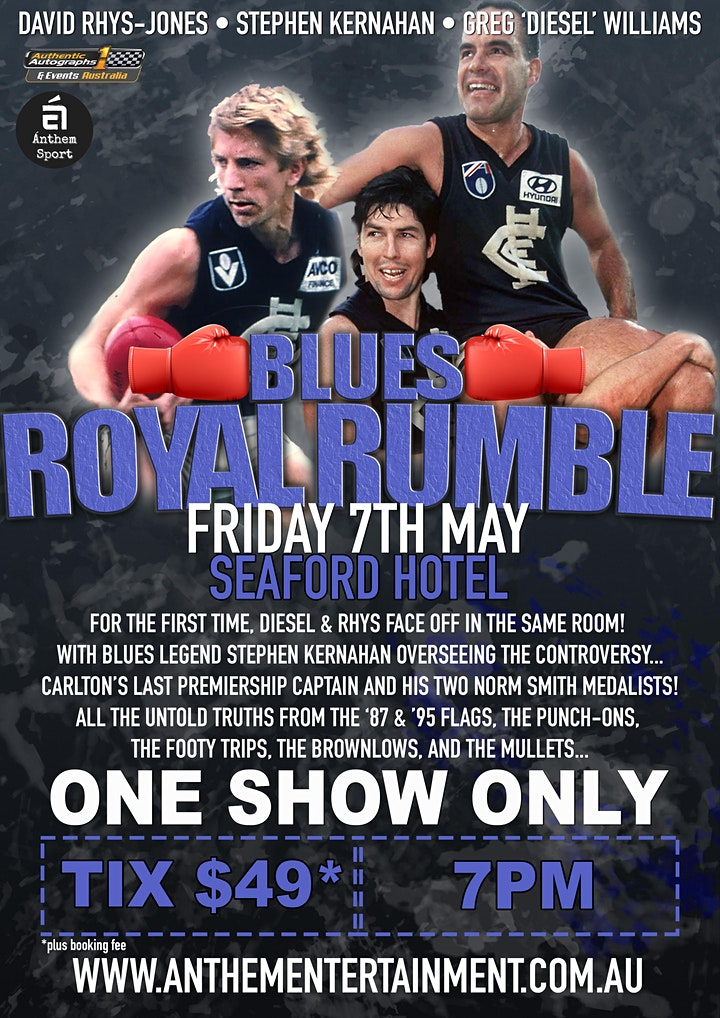 Blues Royal Rumble LIVE at Seaford Hotel! image