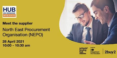 Meet the supplier: North East Procurement Organisation (NEPO) tickets