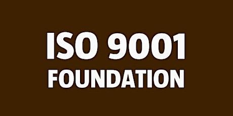 ISO 9001 Foundation bilhetes