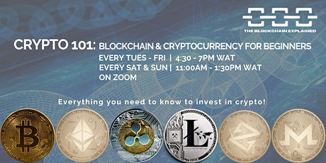 Crypto 101: Introduction to Blockchain & Cryptocurrencies (For Beginners) tickets