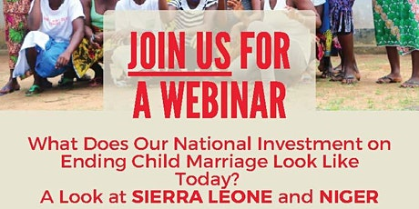 What Does Our National Investment on Ending Child Marriage Look Like Today? tickets