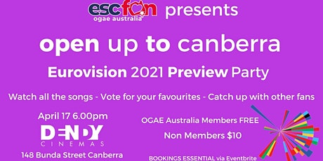 OGAE Australia Canberra 2021 Eurovision Preview Party tickets
