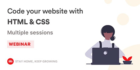 [Free workshop] Code your first website with HTML & CSS tickets