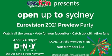 OGAE Australia Sydney 2021 Eurovision Preview Party tickets