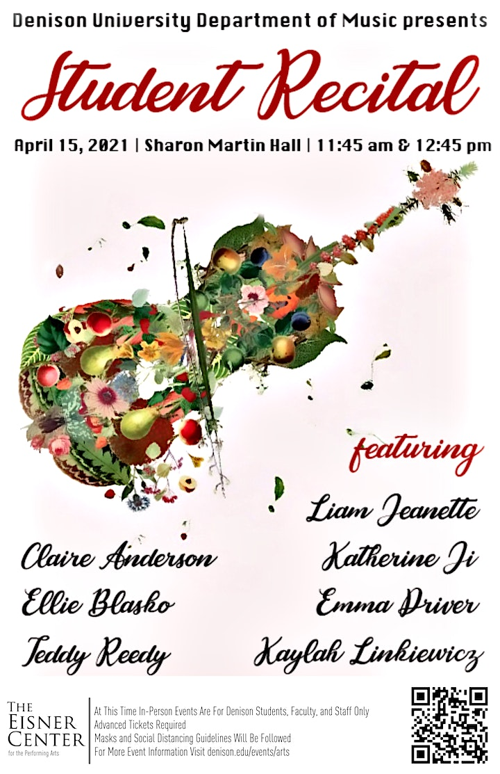 The Music Department presents a Student Recital image