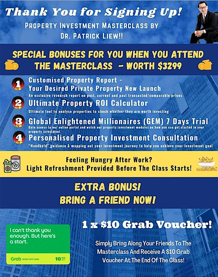 FREE : Live Physical Property Investing MASTERCLASS by Dr Patrick Liew image