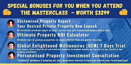 FREE Webinar: Live  Property Investing MasterClass by Dr. Patrick Liew tickets