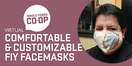 Comfortable and Customizable DIY Facemasks - A FREE virtual Co-op Class tickets