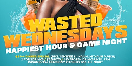Wasted Wednesdays - 2 for 1 Drinks & $5 Shots (from 5pm - 7pm) tickets