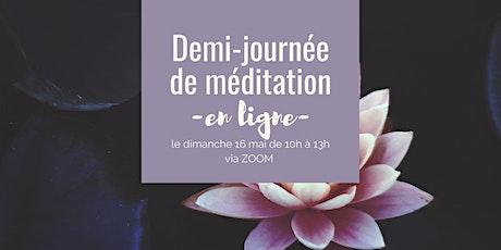 Demi-journée de méditation en silence billets