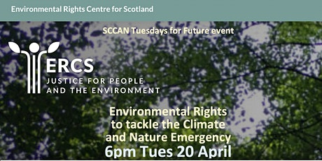 Environmental rights to tackle climate & nature  emergency 6pm Tues 20April tickets