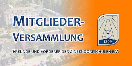Mitgliederversammlung - Freunde und Förderer der Zinzendorfschulen e.V. Tickets