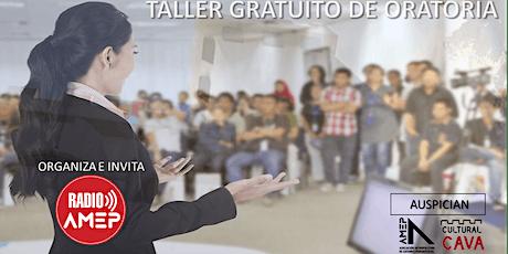 TALLER DE ORATORIA EN EL CULTURAL CAVA entradas