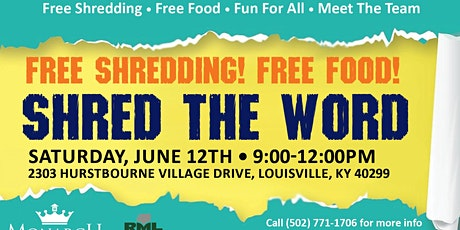 Shredding Day-Bring Your Documents tickets