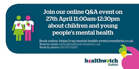 Join our online Q&A event about children and young people's mental health tickets