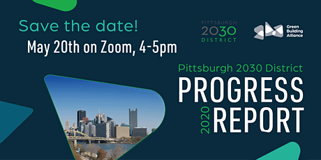 Pittsburgh 2030 District Progress Report Reception 2020 tickets