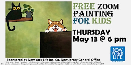Free Online Painting Party for Kids via Zoom tickets