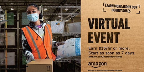 Amazon is hiring! Virtual Info Session May- MA Warehouse Jobs tickets