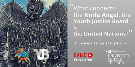 What connects the Knife Angel, the Youth Justice Board & the United Nations tickets