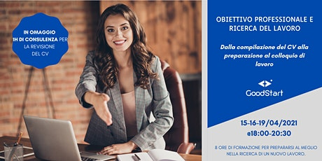 Obiettivo professionale e ricerca del lavoro biglietti