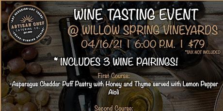 Wine Tasting Dinner Event tickets