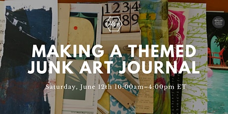 Making a Themed Junk Art Journal tickets