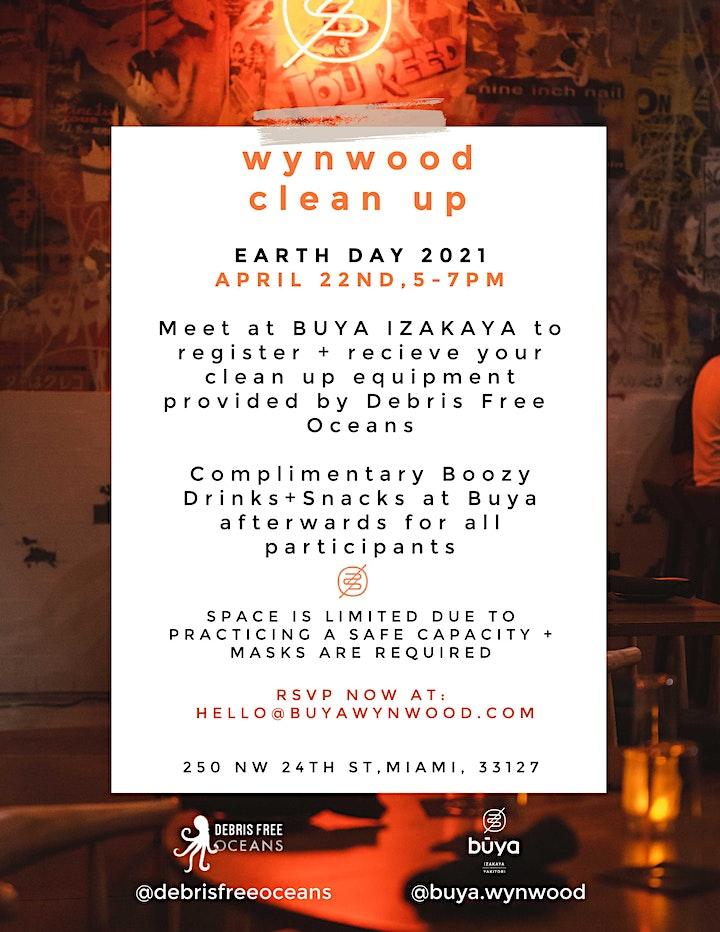 Wynwood Earth Day Clean Up - Hosted by Debris Free Oceans + Buya Izakaya image
