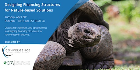 Designing Financing Structures for Nature-based Solutions tickets