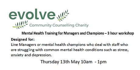 Mental Health Awareness Workshop for Line Managers tickets