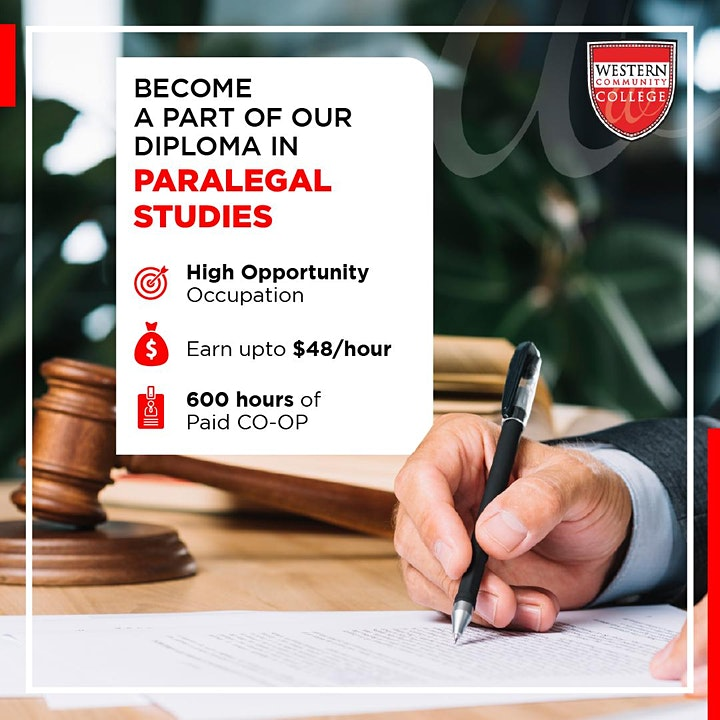 Information Session for the Diploma in Paralegal Studies image